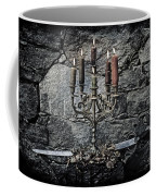 Candle Holder And Sword Coffee Mug by Joana Kruse