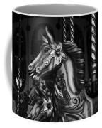 Carousel Horses Mono Coffee Mug
