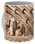 Carved Stone Biblical Mural Above Catholic Cathedral Doorway Coffee Mug