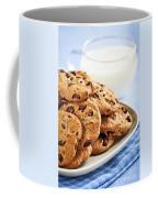 Chocolate Chip Cookies And Milk Coffee Mug