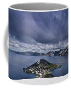 Clouds Over Crater Lake Coffee Mug