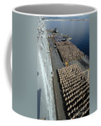 Crew Aboard The Amphibious Assault Ship Coffee Mug