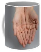 Cupped Hands Coffee Mug