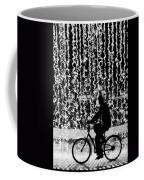 Cycling Silhouette Coffee Mug by Carlos Caetano