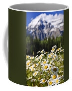 Daisies At Mount Robson Provincial Park Coffee Mug