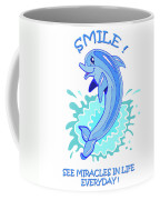 Darla The Dolphin Coffee Mug by John Keaton
