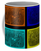Declaration Of Independence In Quad Colors Coffee Mug by Rob Hans