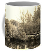 Dock On The River In Sepia Coffee Mug