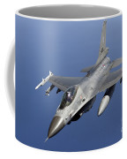 Dutch F-16am During A Combat Air Patrol Coffee Mug