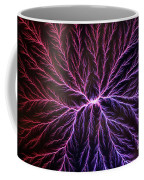 Electrical Discharge Lichtenberg Figure Coffee Mug by Ted Kinsman