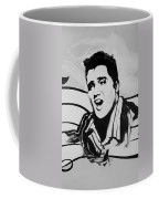 Elvis In Black And White Coffee Mug