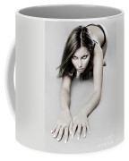 Expressive Sexy Cat Woman Coffee Mug