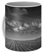 Field Furrows And Clouds In South East Texas Coffee Mug
