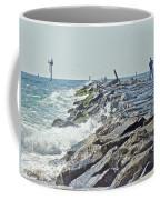 Fishing The Jetty - Island Beach State Park   Nj Coffee Mug