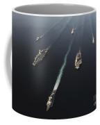 Fleet Of Navy Ships Transit The Arabian Coffee Mug