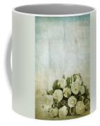 Floral Pattern On Old Paper Coffee Mug