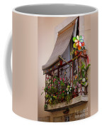 Flowery Balcony Coffee Mug by Carlos Caetano