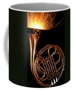 French Horn With Sparks Coffee Mug
