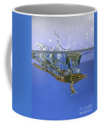 Frog Jumps Into Water Coffee Mug by Ted Kinsman