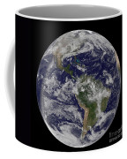 Full Earth Showing North America Coffee Mug