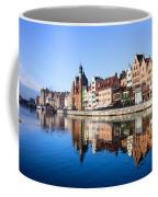 Gdansk Old Town And Motlawa River Coffee Mug