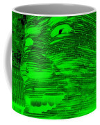 Gentle Giant In Negative Green Coffee Mug