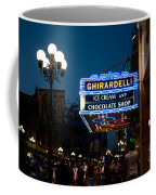 Ghirardelli Chocolate Signs At Night Coffee Mug