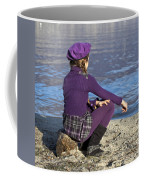Girl At A Lake Coffee Mug by Joana Kruse