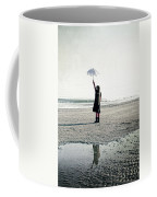 Girl On The Beach With Parasol Coffee Mug by Joana Kruse