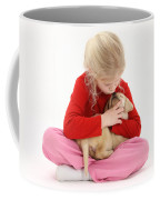 Girl With Puppy Coffee Mug by Mark Taylor