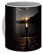 Girl With Sunset Coffee Mug
