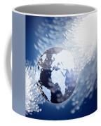 Globe With Fiber Optics Coffee Mug