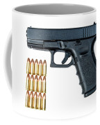 Glock Model 19 Handgun With 9mm Coffee Mug