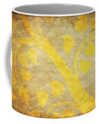 Golden Tree Pattern On Paper Coffee Mug