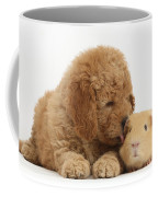 Goldendoodle Puppy And Guinea Pig Coffee Mug