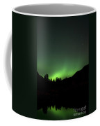 Green Aurora Above Kincolith River Coffee Mug