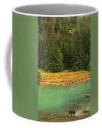 Grizzly Bear Fishing In Chilkoot River Coffee Mug
