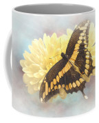 Grunge Giant Swallowtail Coffee Mug