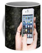 Hands Holding An Iphone Coffee Mug