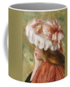 Head Of A Young Girl In A Red Hat  Coffee Mug