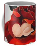Healing Painting Baby Sleeping In A Rose Coffee Mug