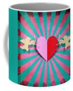 Heart And Cupid On Paper Texture Coffee Mug by Setsiri Silapasuwanchai