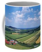 High Angle View Of Fields, Stradbally Coffee Mug