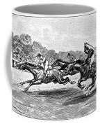 Horse Racing, 1900 Coffee Mug