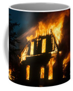 House On Fire Coffee Mug by Photo Researchers, Inc.