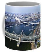 Hungerford Bridge Seen From London Eye Coffee Mug