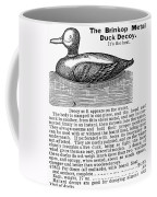 Hunting: Duck Decoy, 1895 Coffee Mug
