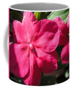 Impatiens Named Dazzler Burgundy Coffee Mug