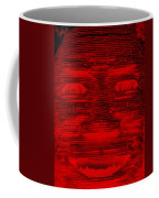 In Your Face In Negative Red Coffee Mug