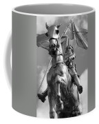 Joan Of Arc Statue French Quarter New Orleans Black And White Coffee Mug